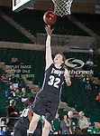 Troy Trojans guard Rosie Hynes (32) in action during the game between the Troy Trojans and the University of North Texas Mean Green at the North Texas Coliseum,the Super Pit, in Denton, Texas. UNT defeats Troy 57 to 36.....