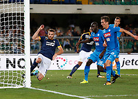 firt gol Napoli during the  italian serie A soccer match,between Hellas Verona and SSC Napoli  at  the Bentegodi    stadium in Verona  Italy , August 19, 2017