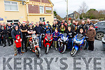 Bikers converge for the slow bike race Fundraiser for Cian Lenihan who is been treated for leukaemia at The Railway Bar Lixnaw on Saturday last