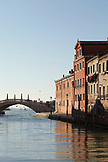ITALY, Venice. View of the Rio de L'Arsenal flowing into the Grand Canal in the Castello distirct.  Castello is the largest of the six sestieri of Venice.