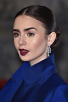 Lily Collins<br /> The EE British Academy Film Awards 2019 held at The Royal Albert Hall, London, England, UK on February 10, 2019.<br /> CAP/PL<br /> ©Phil Loftus/Capital Pictures