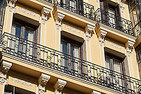 Building detail, Madrid, Spain