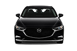 Car photography straight front view of a 2019 Mazda Mazda-3 Preferred-Package 4 Door Sedan Front View