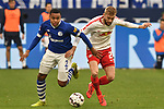 16.03.2019, VELTINS-Arena, Gelsenkirchen, GER, DFL, 1. BL, FC Schalke 04 vs RB Leipzig, DFL regulations prohibit any use of photographs as image sequences and/or quasi-video<br /> <br /> im Bild v. li. im Zweikampf Weston McKennie (#2, FC Schalke 04) Konrad Laimer (#27, RB Leipzig)<br /> <br /> Foto © nph/Mauelshagen