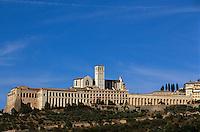 Italien, Umbrien, Kirche und Kloster San Francesco in Assisi , UNESCO-Weltkulturerbe