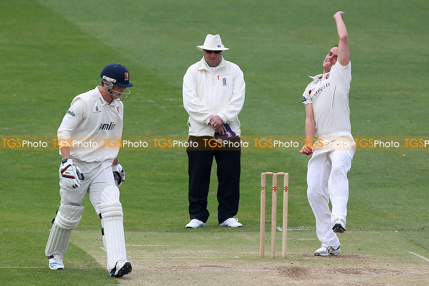 David Griffiths in bowling action for Kent - Essex CCC vs Kent CCC - Pre-Season Friendly Cricket Match at the Essex County Ground, Chelmsford - 03/04/14 - MANDATORY CREDIT: Gavin Ellis/TGSPHOTO - Self billing applies where appropriate - 0845 094 6026 - contact@tgsphoto.co.uk - NO UNPAID USE