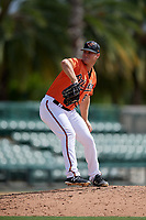 Baltimore Orioles pitcher Zach Matson (89) delivers a pitch during a Florida Instructional League game against the Pittsburgh Pirates on September 22, 2018 at Ed Smith Stadium in Sarasota, Florida.  (Mike Janes/Four Seam Images)