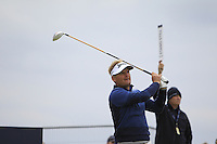 Soren Kjeldson (DEN) on the 17th tee during Round 4 of the 2015 Alfred Dunhill Links Championship at the Old Course in St. Andrews in Scotland on 4/10/15.<br /> Picture: Thos Caffrey | Golffile