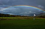 NEWPORT, WALES - OCTOBER 3: A general view of a rainbow over a green during the 2010 Ryder Cup at the Celtic Manor Resort on October 3, 2010 in Newport, Wales. (Photo by Donald Miralle)