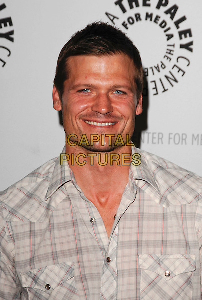 "BAILEY CHASE .arriving at the Third Season Premiere and Panel Discussion for ""Saving Grace"" at The Paley Center for Media in Beverly Hills, California, USA, June 13th 2009..portrait headshot plaid check checked shirt .CAP/ROT.©Lee Roth/Roth Stock/Capital Pictures."