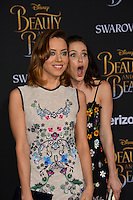 Aubrey Plaza &amp; Katie Aselton at the premiere for Disney's &quot;Beauty and the Beast&quot; at El Capitan Theatre, Hollywood. Los Angeles, USA 02 March  2017<br /> Picture: Paul Smith/Featureflash/SilverHub 0208 004 5359 sales@silverhubmedia.com