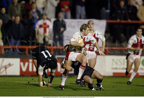 JOHN STANKEVITCH, ENGLAND A 12  v New Zealand 34, Griffin Park, Brentford 021030 Photo:Neil Tingle/Action Plus...2002.rugby league.