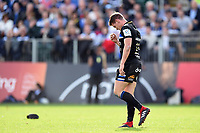 Freddie Burns of Bath Rugby looks dejected after dropping the ball in the act of scoring. Heineken Champions Cup match, between Bath Rugby and Stade Toulousain on October 13, 2018 at the Recreation Ground in Bath, England. Photo by: Patrick Khachfe / Onside Images