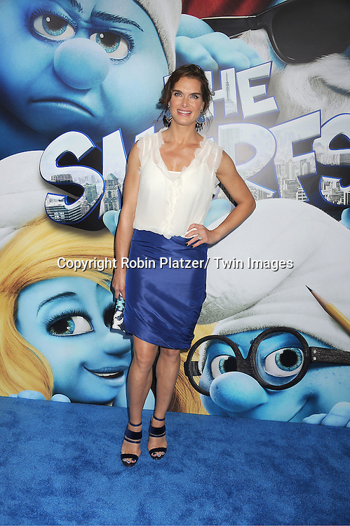 "Brooke Shields  attending The World Premiere of ""The Smurfs"" on ..July 24, 2011 at The Ziegfeld Theatre in New York City. ..The movie stars Neil Patrirck Harris, Katy Perry, Sofia Vergara, Jayma Mays, Hank Azaria, George Lopez, Alan Cumming, Jeff Foxworthy and Tim Gunn."