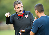 Orlando, FL - Friday Oct. 14, 2016:   Lead instructor Vanni Sartini gives instruction during a US Soccer Coaching Clinic in Orlando, Florida.