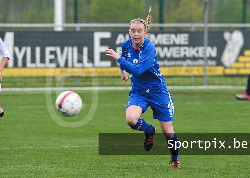 UEFA Women's Under 17 Championship - Second Qualifying round - group 1 : England - Iceland : .Berglind Agustsdottir.foto DAVID CATRY / Vrouwenteam.be