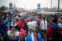 start Elite Women's Race<br /> <br /> 2015 UCI World Championships Cyclocross <br /> Tabor, Czech Republic