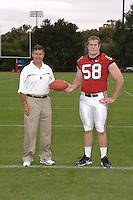 7 August 2006: Stanford Cardinal head coach Walt Harris and Brian Bulcke during Stanford Football's Team Photo Day at Stanford Football's Practice Field in Stanford, CA.