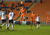 04/12/2018 FA Youth Cup 3rd Round Blackpool v Derby County<br /> <br /> Owen Watkinson heads wide