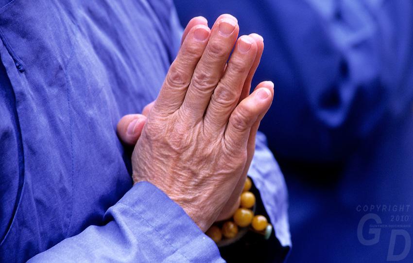 Praying Hands, in a Temple in Taipei,Taiwan