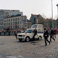 Mei 1985. Bezoek van Paus Johannes Paulus 2 in Antwerpen.