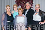 Michelle Doherty, Aoife Smith, Angela Doherty, Mike Doherty and Karen Doherty at the Killarney Mayor ball in aid of the Irish cancer society at the Malton Hotel on Sunday night