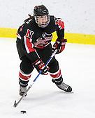 Stephanie Gavronsky (NU - 44) - The Harvard University Crimson defeated the Northeastern University Huskies 1-0 to win the 2010 Beanpot on Tuesday, February 9, 2010, at the Bright Hockey Center in Cambridge, Massachusetts.