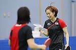 kasumi Ishikawa (JPN), <br /> JULY 22, 2016 - Table Tennis : <br /> Japan national team training session <br /> for Rio Olympic Games 2016 <br /> at Ajinomoto National Training Center, Tokyo, Japan. <br /> (Photo by YUTAKA/AFLO SPORT)
