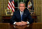 United States President George W. Bush addresses the nation on the issue of immigration and border security from the Oval Office of the White House in Washington, D.C. on May 15, 2006.<br /> Credit: Jay L. Clendenin - Pool via CNP