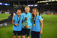 Carson, CA - Thursday August 03, 2017: Australia after the 2017 Tournament of Nations match between the women's national teams of the United States (USA) and Japan (JPN) at the StubHub Center.