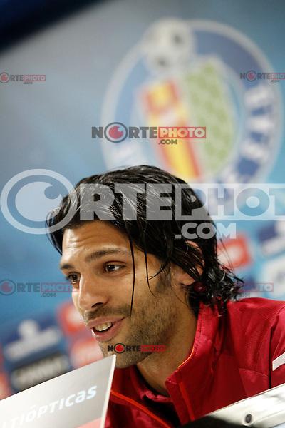 Getafe's Angel Lafita in press conference after La Liga match.November 18,2012. (ALTERPHOTOS/Acero) NortePhoto
