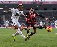 Wolverhampton Wanderers' Adama Traore (left) crosses the ball despite the attentions of  Bournemouth's Adam Smith (right) <br /> <br /> <br /> Photographer David Horton/CameraSport<br /> <br /> The Premier League - Bournemouth v Wolverhampton Wanderers - Saturday 23 February 2019 - Vitality Stadium - Bournemouth<br /> <br /> World Copyright © 2019 CameraSport. All rights reserved. 43 Linden Ave. Countesthorpe. Leicester. England. LE8 5PG - Tel: +44 (0) 116 277 4147 - admin@camerasport.com - www.camerasport.com