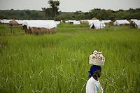 Refugee camp in Nyori, South Sudan.