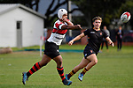 College Rugby - Scots College v King's College at Scots College, Wellington, New Zealand on Saturday 14 April 2018.<br /> Photo by Masanori Udagawa. <br /> www.photowellington.photoshelter.com