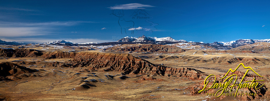 Dubois Badlands, Absaroka Mountains, Panorama, Dubois, Wyoming