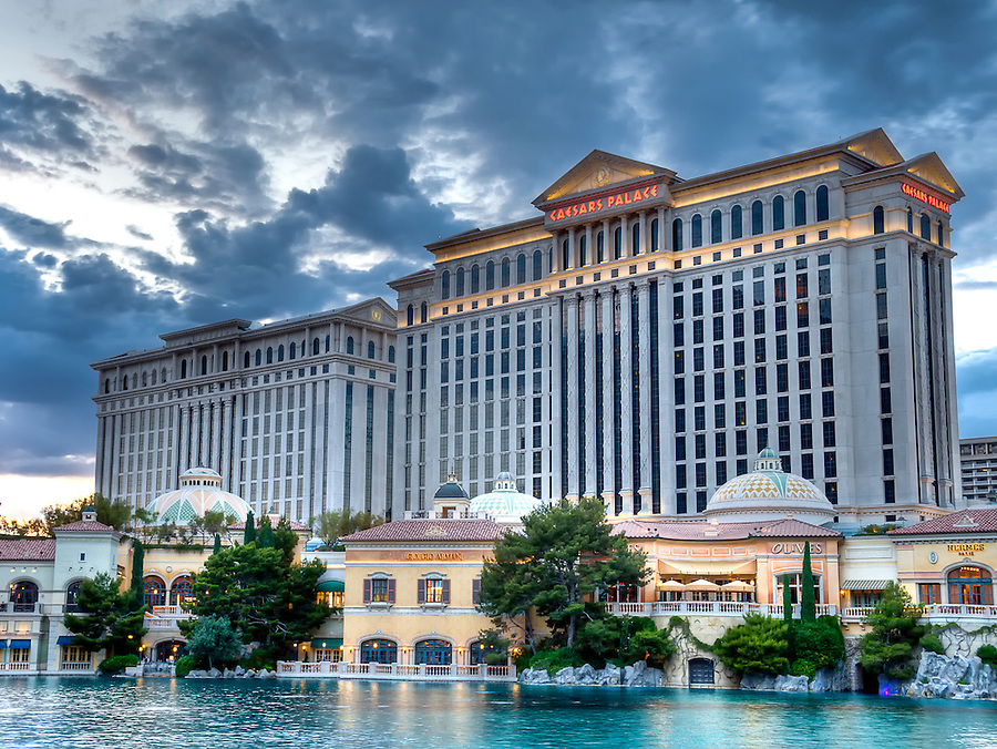 LAS VEGAS, NV - MAY 31: Caesars Palace resort facade taken in May 31, 2009. Caesars Palace is a luxury hotel and casino located on the Las Vegas Strip. Caesars has 3,348 rooms in five towers: Augustus, Centurion, Roman, Palace, and Forum. The Forum tower features guest suites with 1,000 square feet (93 m2) of space.