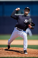 New York Yankees pitcher Paul Young (78) during a Minor League Spring Training game against the Detroit Tigers on March 21, 2018 at the New York Yankees Minor League Complex in Tampa, Florida.  (Mike Janes/Four Seam Images)