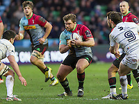 Rob Buchanan in action, Harlequins v Cardiff Blues in a European Challenge Cup match at Twickenham Stoop, Twickenham, London, England, on 17th January 2016