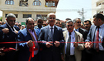 Palestinian Prime Minister Rami Hamdallah attends the opening ceremony of Jenin Shopping Festival, in the West Bank city of Jenin on May 5, 2018. Photo by Prime Minister Office