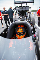 Mar 16, 2019; Gainesville, FL, USA; NHRA top fuel driver Mike Salinas during qualifying for the Gatornationals at Gainesville Raceway. Mandatory Credit: Mark J. Rebilas-USA TODAY Sports