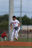 Matt Paulo (59) of Park Vista High School in Lake Worth, Florida during the Under Armour Baseball Factory National Showcase, Florida, presented by Baseball Factory on June 12, 2018 the Joe DiMaggio Sports Complex in Clearwater, Florida.  (Nathan Ray/Four Seam Images)