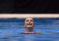 Polly Winter (Wellington High School). Day one of the 2018 North Island Synchronised Swimming Championships at Wellington Regional Aquatics Centre in Wellington, New Zealand on Saturday, 19 May 2018. Photo: Dave Lintott / lintottphoto.co.nz