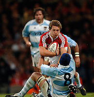 2005 British & Irish Lions vs Pumas [ Argentina], at The Millennium Stadium, Cardiff, WALES match played on  23.05.2005, Chris Cusiter, runs into Juan Manuel Leguizamon..Photo  Peter Spurrier. .email images@intersport-images...