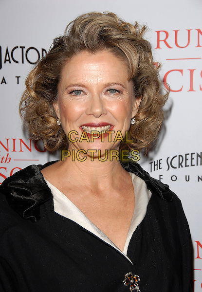 "ANETTE BENNING.attends The TrisStar Pictures' World Premiere of ""Running with Scissors"" held at The Academy of Motion Pictures Arts & Sciences in Beverly Hills, California, USA, October 10th 2006..portrait headshot.Ref: DVS.www.capitalpictures.com.sales@capitalpictures.com.©Debbie VanStory/Capital Pictures"
