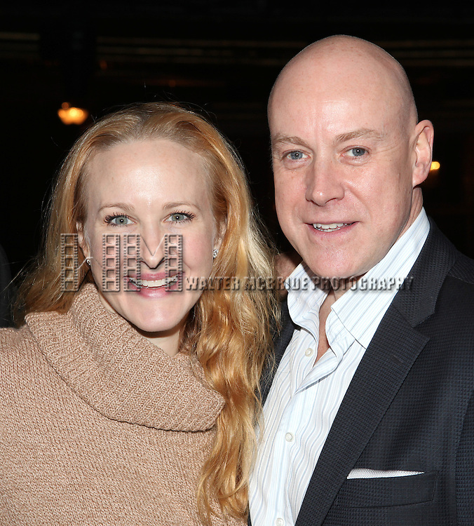 Katie Finneran & Anthony Warlow attending the Broadway Opening Night Performance  Gypsy Robe Ceremony celebrating Merwin Foard recipient  for 'Annie' at the Palace Theatre in New York City on 11/08/2012