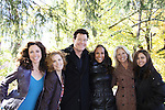 "Jennifer Rozsell, Liz Keifer, Michael O'Leary, Yvonna Wright, Beth Chamberlin, Jessica Leccia participate in ""A New Project With Old Friends - a group of former Guiding Lighters - actors and production - recently got together on a beautiful Sunday for a day of taping, talking and pizza. It was a great day. Details to follow... "" (Photo by Sue Coflin/Max Photos)"