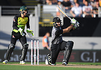 Martin Guptill.<br /> New Zealand Black Caps v Australia.Tri-Series International Twenty20 cricket final. Eden Park, Auckland, New Zealand. Wednesday 21 February 2018. &copy; Copyright Photo: Andrew Cornaga / www.Photosport.nz