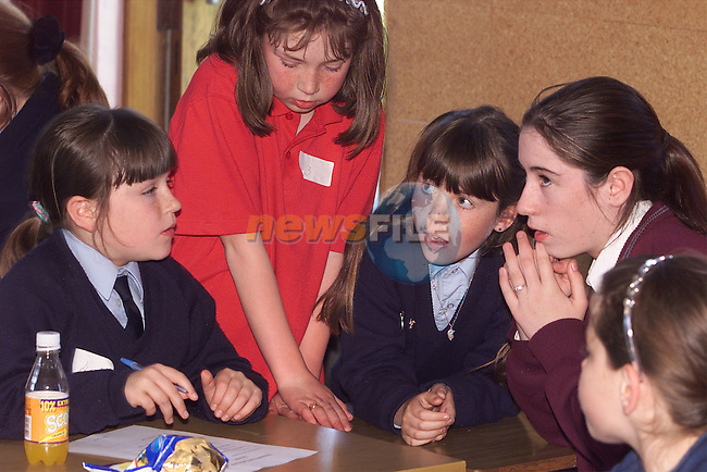 Gilian Carter, Dannielle Farrell, Hanna Stafford and Sara-Jane Brannigan pictured at the table quiz at Greenhills College..Picture: Arthur Carron/Newsfile