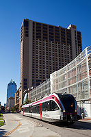 MetroRail approaching Downtown Station in Austin, Texas