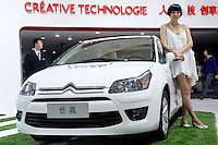 Citroen stand at the Beijing Auto Show in Beijing, China. The car show has attracted all the world's major auto markers. China's vehicle sales have breached the 10-million barrier for the first time ever, with 10.9 million automobiles sold last year. .24 Apr 2010